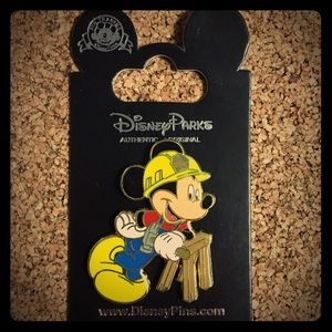 Disney construction worker Mickey. New on Card